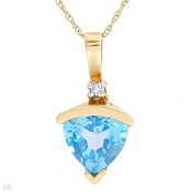 2.03Ctw Diamond & Topaz 10K Yellow Gold 18