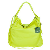 Laura Di Maggio Italian Made Lime Leather Shoulder Hobo Bag