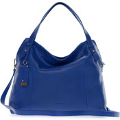 Cromia Italian Made Blue Buttersoft Leather Satchel Shoulder Bag
