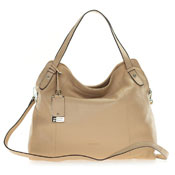 Cromia Italian Made Nude Beige Buttersoft Leather Satchel Shoulder Bag