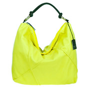 Laura Di Maggio Italian Made Lime Leather Large Shoulder Hobo Bag