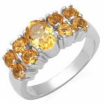 1.68Ctw Yellow Citrine Solid 925 Sterling Silver Gemstone Ring Sz 6