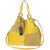 Asia Bellucci Italian Made Yellow Leather Oversized Shopper Tote