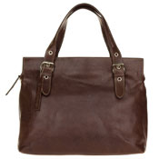 Robe di Firenze Italian Made Brown Organically Treated Leather Large Tote Handbag