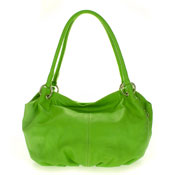 Cosette Italian Made Apple Green Soft Leather Hobo Shoulder Bag