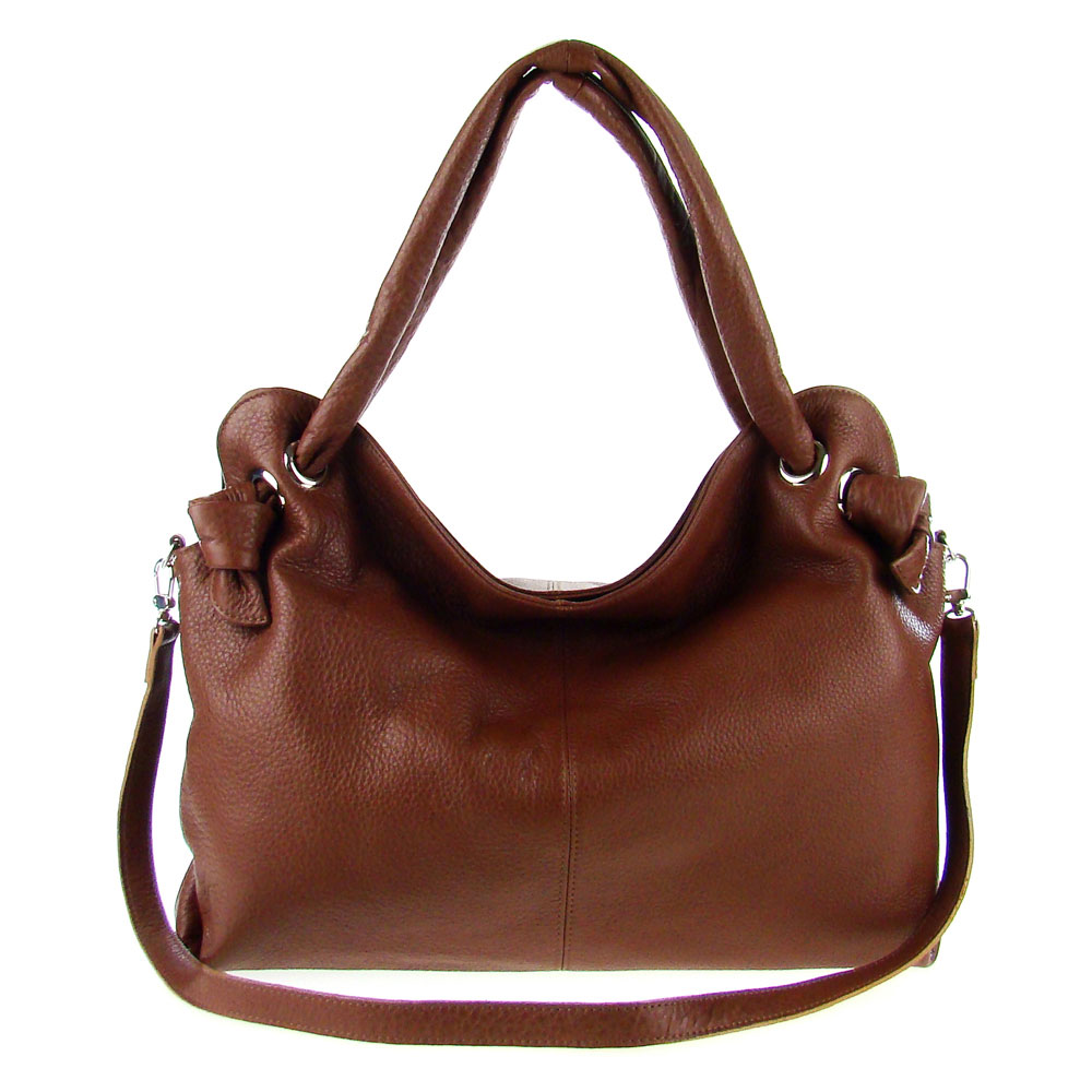 italian made brown leather large carryall tote bag by m a