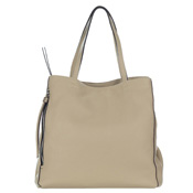 Gianni Chiarini Italian Made Beige Pebbled Leather Large Carryall Tote Bag with Pockets