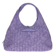 Paolo Masi Italian Made Purple Lilac Hand Woven Leather Purse Handbag