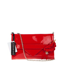 Roberta Gandolfi Italian Made Red Patent Leather Evening Bag Clutch