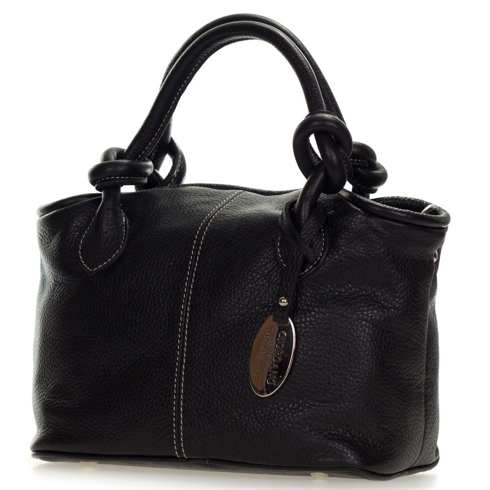 A black handbag is a great choice for an everyday bag; it always look chic, matches any outfit and hides scuffs incurred during regular use. If you are looking for a black party bag, choose something with interesting detailing to liven the item up.