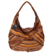 Veneta Italian Multicolor Layered Leather Large Shoulder Hobo Bag