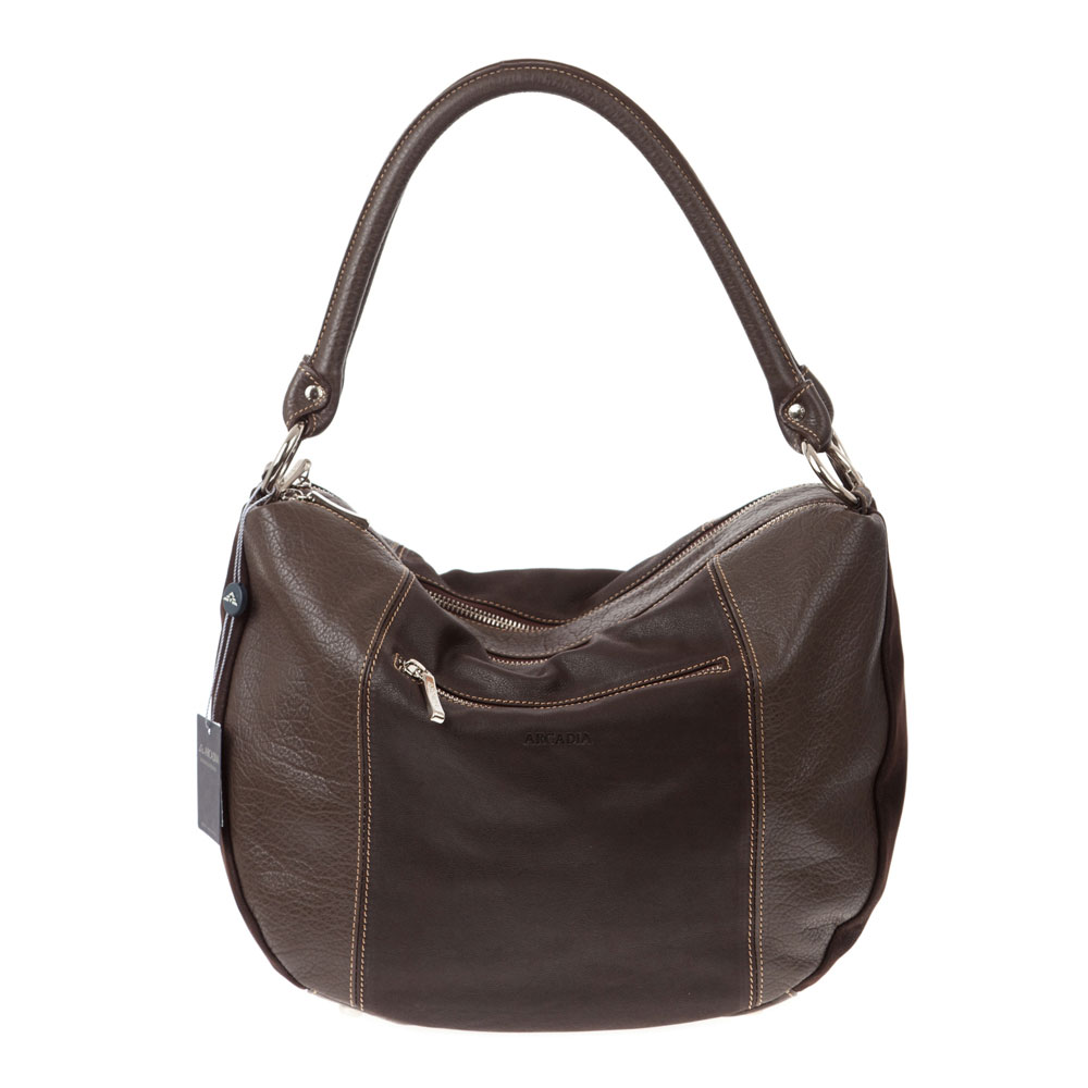 Prada Brown x Dark Brown Leather Hobo Bag. Prada Brown x Dark Brown Leather Hobo Bag. Prada, Prada. Get weekly alerts when there are new arrivals for Prada Handbags and Purses. Follow. More Ways to Browse. Crocodile Birkin Bags. Hermes Kelly. White Louis Vuitton Bags. Chanel Mini Flap Bags. Hermes Evelyne.