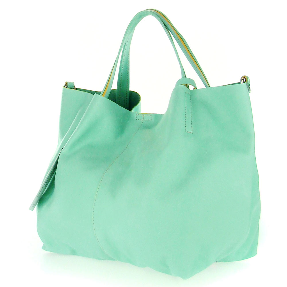 Mint Green Leather Handbag | Luggage And Suitcases