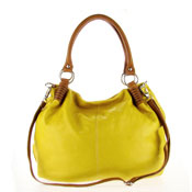 Studiomoda Italian Made Yellow Leather Large Designer Carryall Hobo Bag