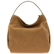 Gianni Chiarini Italian Made Toffee Brown Perforated Leather Hobo Shoulder Bag
