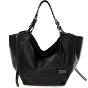 Gianni Chiarini Italian Made Black Leather Large Carry-all Tote Bag