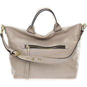 Gianni Chiarini Italian Made Light Beige Leather Large Carry-all Tote Bag