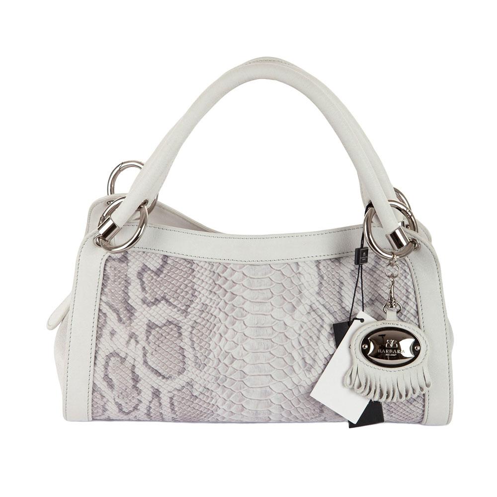 Barbara milano italian leather designer handbag ice python for Designer milano