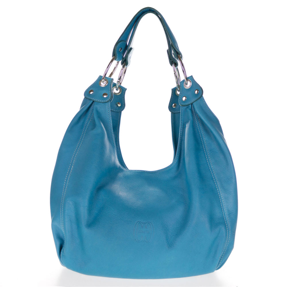 Turquoise Leather Shoulder Bag 107