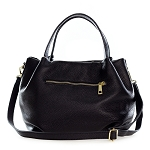 Laura di Maggio Italian Made Black Pebbled Leather Small Tote Bag