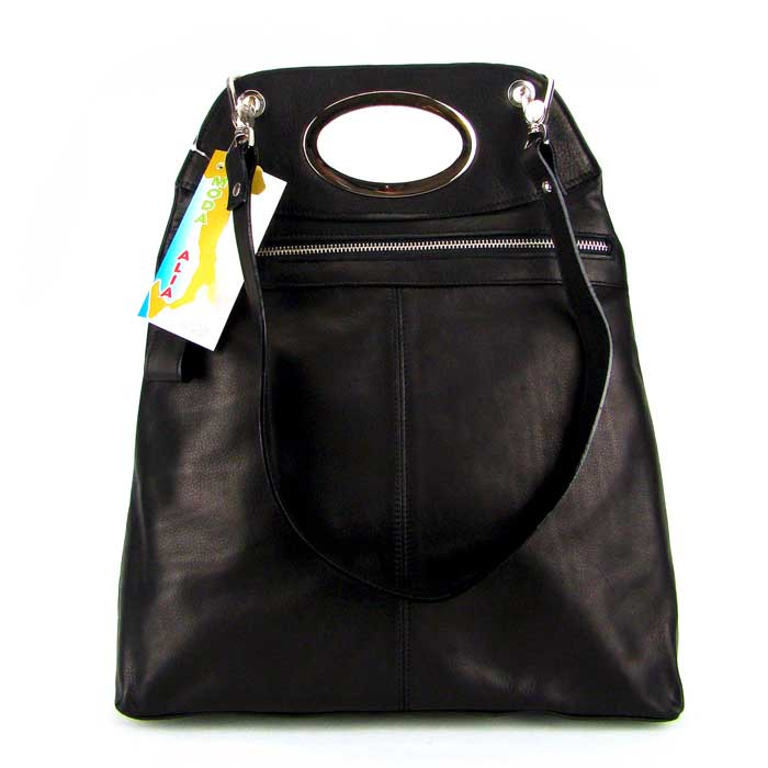 18c2249779 Moda Italia Italian Designer Black Leather Handbag Purse Shoulder Bag - /  CLEARANCE /