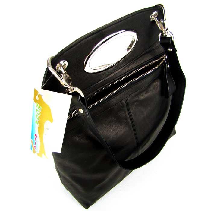 Moda Italia Italian Designer Black Leather Handbag Purse ...