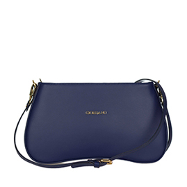 Giordano Italian Made Navy Blue Leather Crossbody Bag