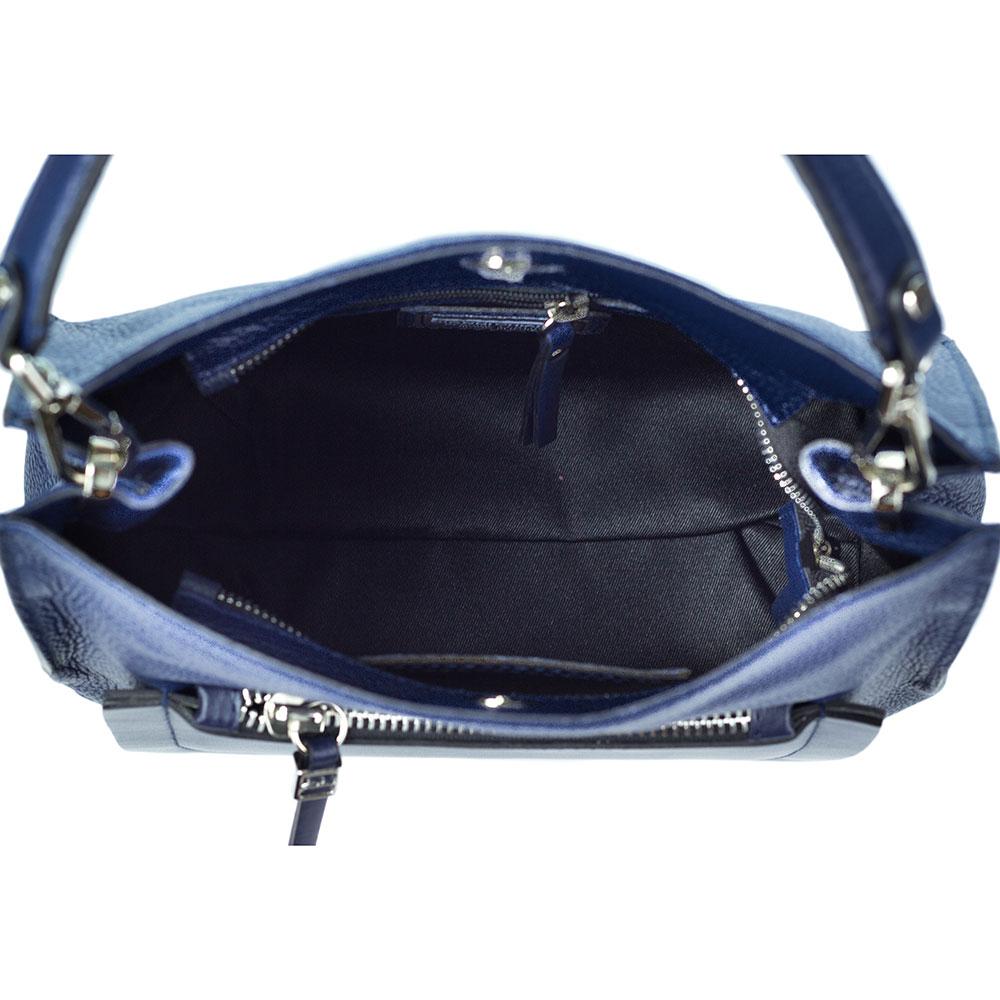 c2dd60cdb706 Gianni Chiarini Italian Made Navy Blue Pebbled Leather Slouchy Hobo Bag  with Pocket