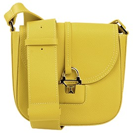 Patrizia Pepe Italian Made Mustard Green Small Crossbody bag