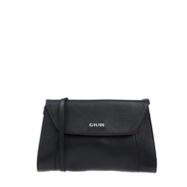 Guidi Italian Made Black Leather Cross-body Bag
