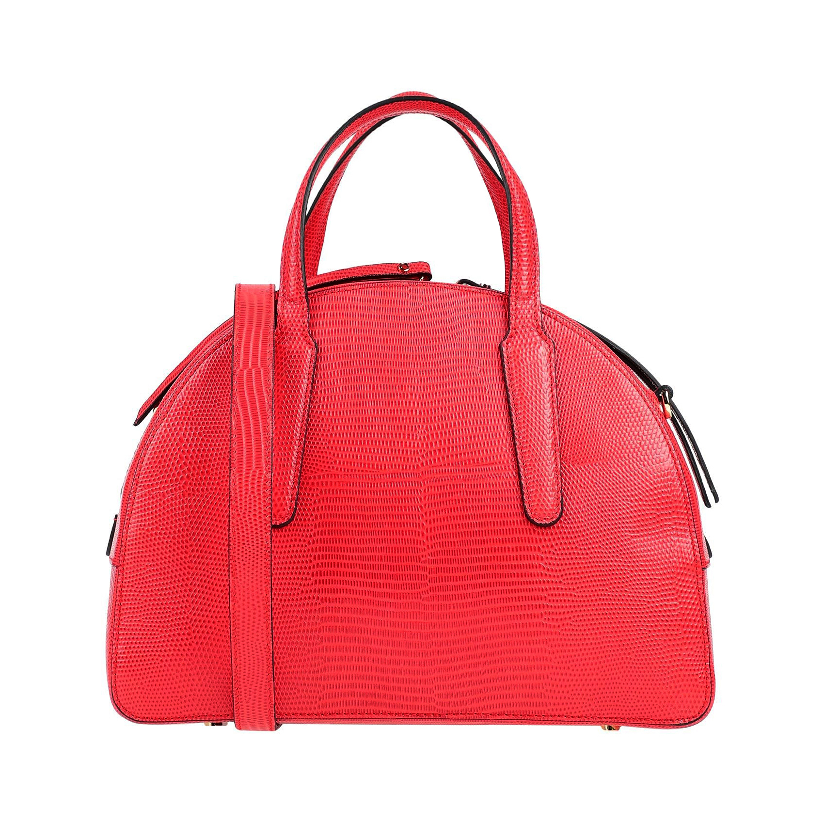 Gianni Chiarini Italian Made Red Embossed Leather Small Tote