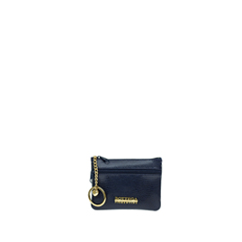 Bottega Fiorentina Italian Made Navy Lizard Print Leather Small Womens Key Case