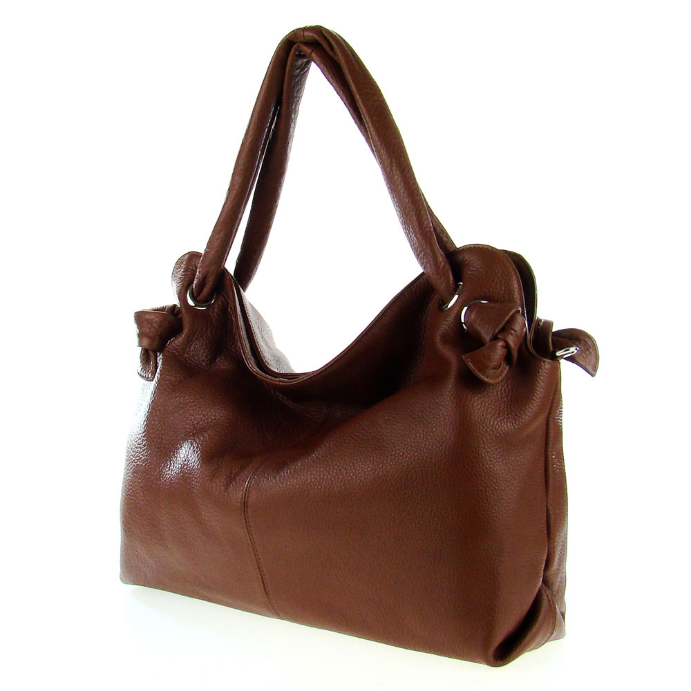 Italian made brown leather large carryall tote bag by map italy gumiabroncs Choice Image