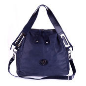 Blue Leather Large Tote Handbag Made in Italy by Megghi