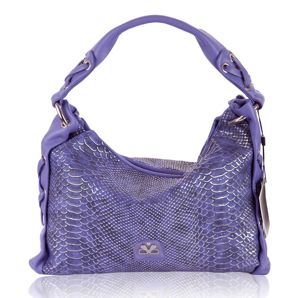 Barbara milano italian designer violet snakeskin print for Designer milano