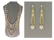 Italian Fashion Jewelry Set: Necklace And Earrings - Alicudi2