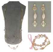 Italian Fashion Jewelry Set: Necklace, Earrings, Bracelet - Alicudi3