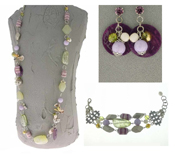 Italian Fashion Jewelry Set: Necklace, Earrings, Bracelet - Antille2
