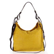 Studiomoda Italian Made Mustard Yellow Snakeskin Embossed Leather Large Designer Carryall Hobo Bag