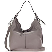 Taupe Leather Hobo Bag Made in Italy by Gianni Chiarini