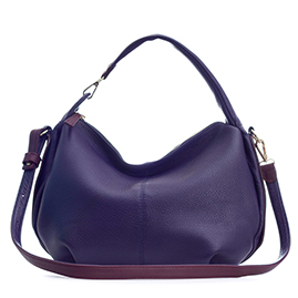 Bruno Rossi Italian Made Violet Soft Deerskin Leather Small Hobo bag