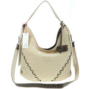Bruno Rossi Italian Made Beige Suede Designer Shoulder Bag - / CLEARANCE /