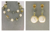 Italian Fashion Jewelry Set: Necklace And Earrings - Dolomiti1