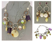 Italian Fashion Jewelry Set: Necklace, Earrings, Bracelet - Elba2
