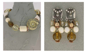Italian Fashion Jewelry Set: Necklace And Earrings - Fiji3