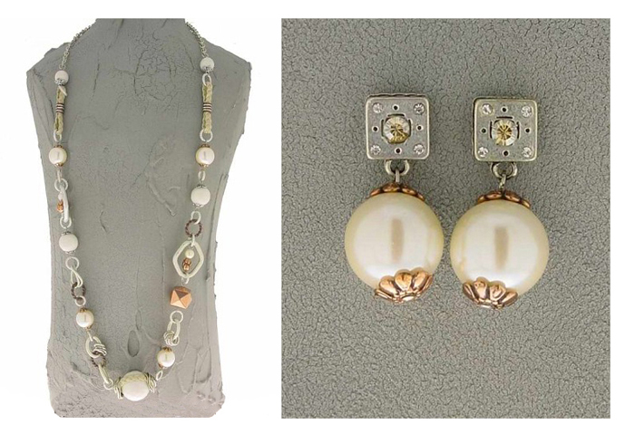 Italian Fashion Jewelry Set: Necklace And Earrings - Ischia1