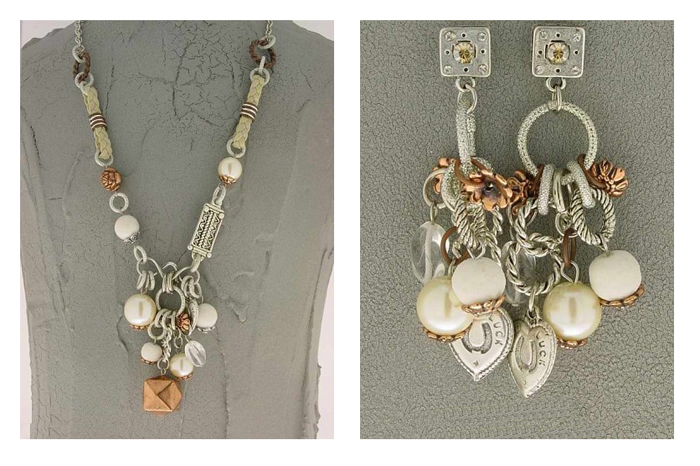 Italian Fashion Jewelry Set: Necklace And Earrings - Ischia3