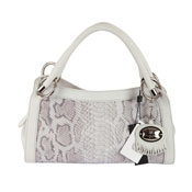 Barbara Milano Italian Leather Designer Handbag - Ice Python