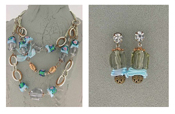 Italian Fashion Jewelry Set: Necklace And Earrings - Madagaskar1