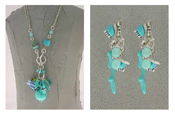 Italian Fashion Jewelry Set: Necklace And Earrings - Maldive1